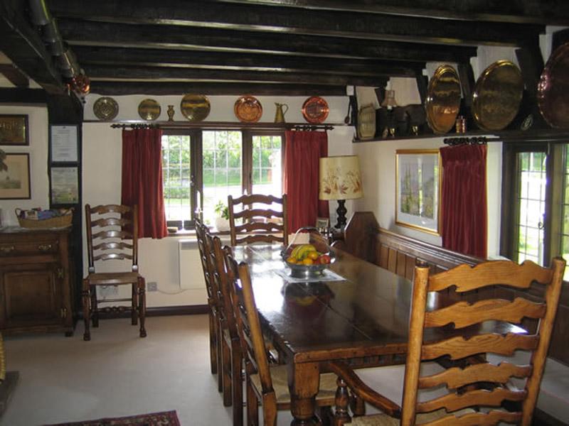 Dining Room Hononton Cottage B&B near Tunbridge Wells